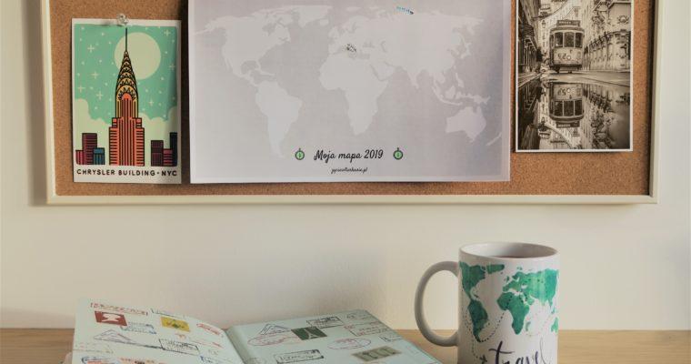 Świat 365 inspiracji- aktualna mapa 2020