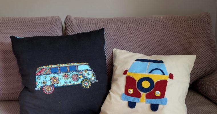 Poduszki DIY z motywem VW ogórka