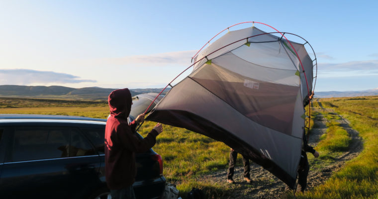 Campingi i nocowanie na Islandii